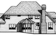 Traditional Style House Plan - 4 Beds 3.5 Baths 3333 Sq/Ft Plan #20-1115 Exterior - Rear Elevation