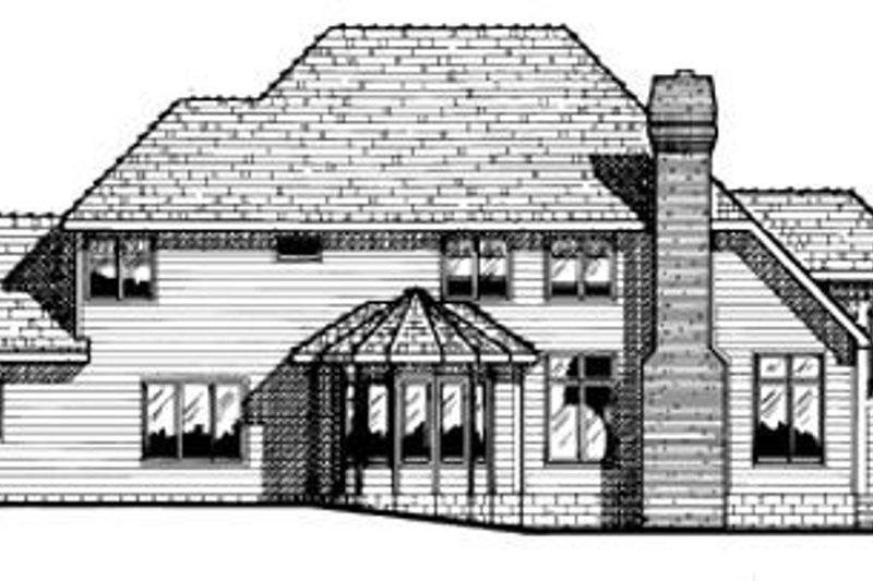 Traditional Exterior - Rear Elevation Plan #20-1115 - Houseplans.com