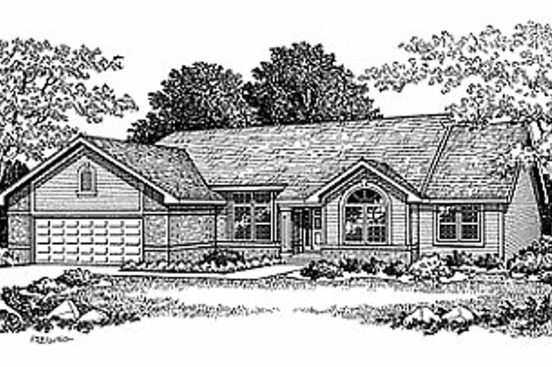 Traditional Exterior - Front Elevation Plan #70-214