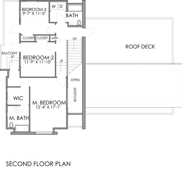 Modern Floor Plan - Upper Floor Plan Plan #518-5