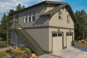 Craftsman Exterior - Front Elevation Plan #895-121