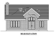 Country Style House Plan - 2 Beds 1 Baths 952 Sq/Ft Plan #138-311 Exterior - Rear Elevation