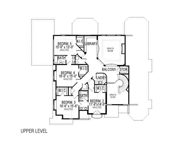 European Floor Plan - Upper Floor Plan Plan #920-61