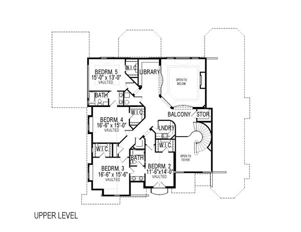 European Floor Plan - Upper Floor Plan Plan #920-61