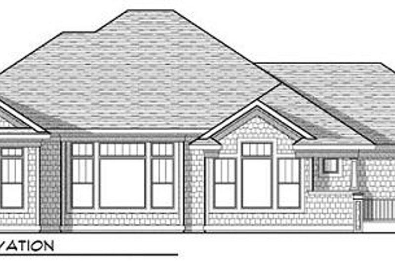 Craftsman Exterior - Rear Elevation Plan #70-918 - Houseplans.com