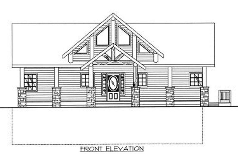 Bungalow Exterior - Other Elevation Plan #117-541 - Houseplans.com