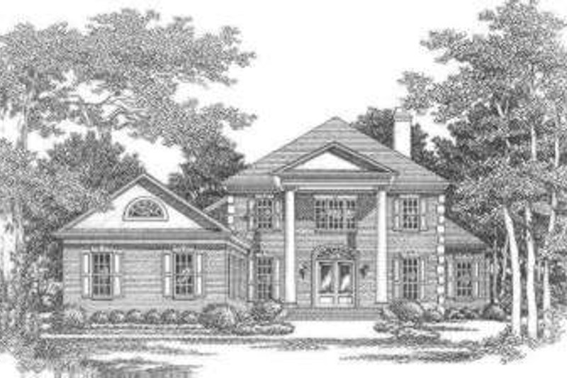 Southern Exterior - Front Elevation Plan #325-253 - Houseplans.com