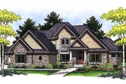 European Style House Plan - 4 Beds 3 Baths 2874 Sq/Ft Plan #70-847 Exterior - Front Elevation