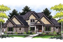 Architectural House Design - European Exterior - Front Elevation Plan #70-847