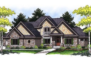European Exterior - Front Elevation Plan #70-847