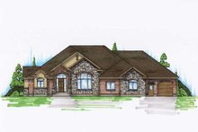 House Plan Design - Traditional Exterior - Front Elevation Plan #5-329