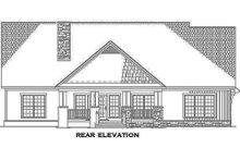 House Plan Design - Craftsman Exterior - Rear Elevation Plan #17-2161