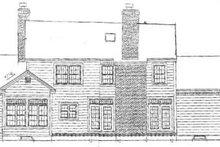 Farmhouse Exterior - Rear Elevation Plan #3-217