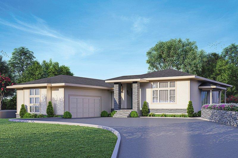 Dream House Plan - Prairie Exterior - Front Elevation Plan #124-1254