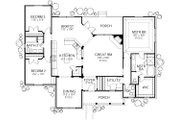 Country Style House Plan - 3 Beds 2.5 Baths 1939 Sq/Ft Plan #80-203 Floor Plan - Main Floor Plan