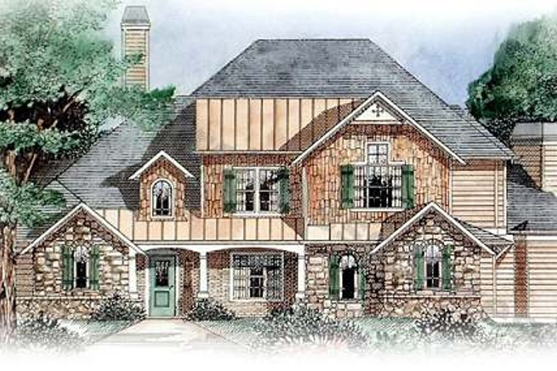 Dream House Plan - Traditional Exterior - Front Elevation Plan #54-159