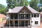 Craftsman Style House Plan - 4 Beds 3.5 Baths 3938 Sq/Ft Plan #437-103 Exterior - Rear Elevation
