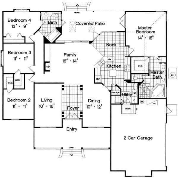 Traditional Floor Plan - Main Floor Plan #417-201