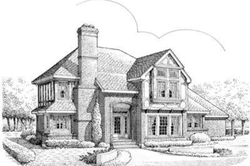 European Exterior - Front Elevation Plan #410-206