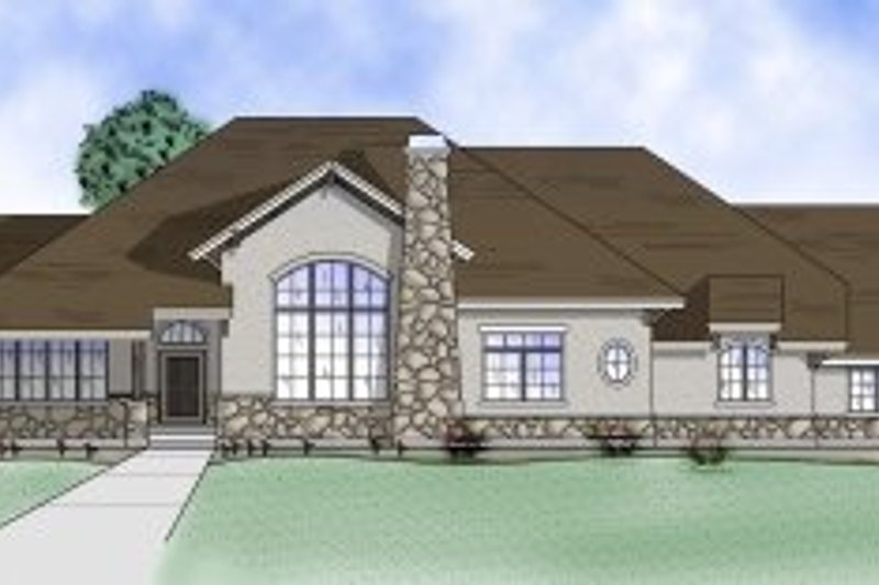 Home Plan - Country Exterior - Front Elevation Plan #5-150
