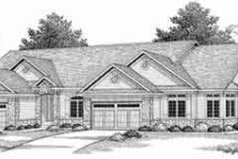 Traditional Exterior - Front Elevation Plan #70-738 - Houseplans.com