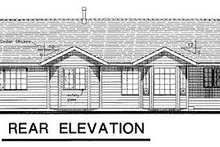 Ranch Exterior - Rear Elevation Plan #18-195
