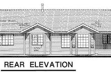 Ranch Exterior - Rear Elevation Plan #18-195