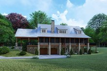Country Exterior - Rear Elevation Plan #923-126