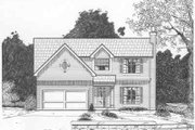 Traditional Style House Plan - 4 Beds 2.5 Baths 1686 Sq/Ft Plan #6-105 Exterior - Front Elevation