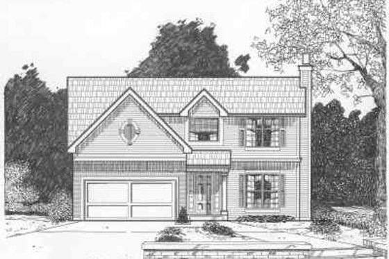Traditional Exterior - Front Elevation Plan #6-105