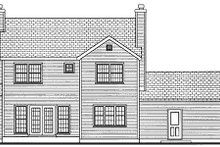 Home Plan - Traditional Exterior - Rear Elevation Plan #3-163