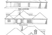 Country Style House Plan - 3 Beds 4 Baths 3670 Sq/Ft Plan #17-579 Exterior - Rear Elevation