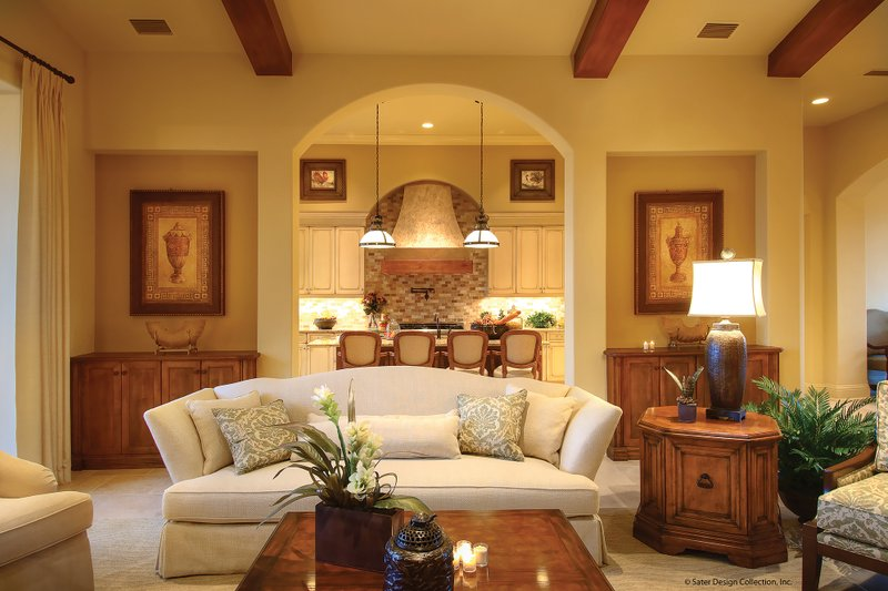 Mediterranean Interior - Family Room Plan #930-13 - Houseplans.com