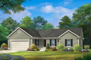 Ranch Exterior - Front Elevation Plan #22-599