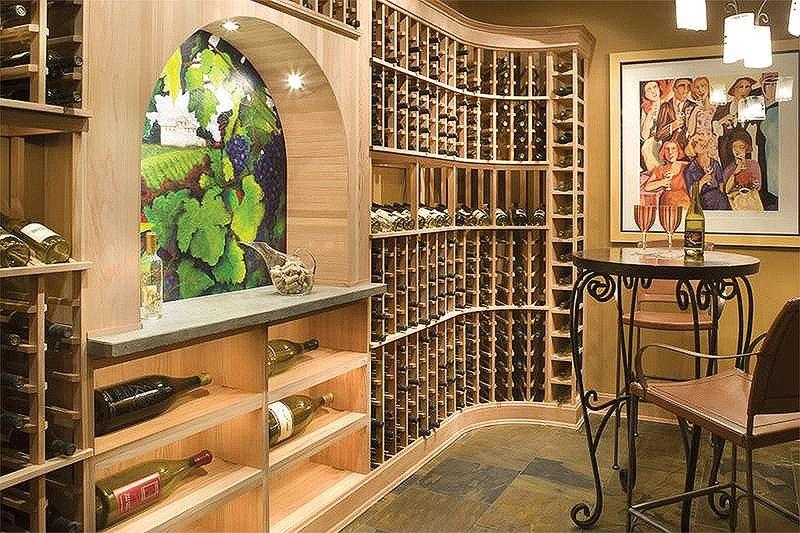 Wine Room - 5100 Square foot Craftsman home