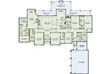 European Floor Plan - Main Floor Plan Plan #17-2387