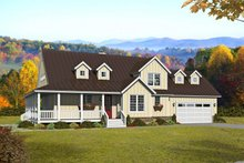 Country Exterior - Front Elevation Plan #932-258