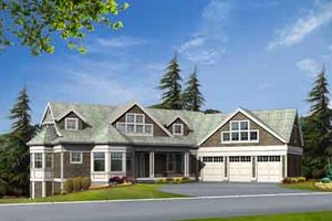 Craftsman Exterior - Front Elevation Plan #132-184