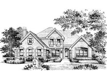 Dream House Plan - Traditional Exterior - Front Elevation Plan #57-122
