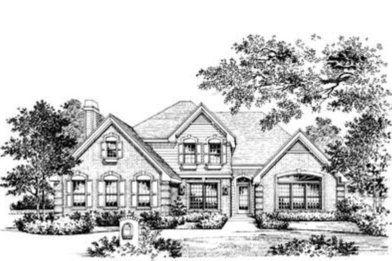 Traditional Exterior - Front Elevation Plan #57-122 - Houseplans.com