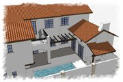 Mediterranean Style House Plan - 3 Beds 4 Baths 4472 Sq/Ft Plan #449-18