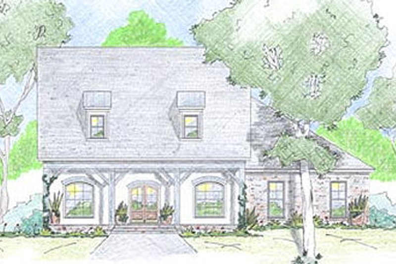 Farmhouse Exterior - Front Elevation Plan #36-471