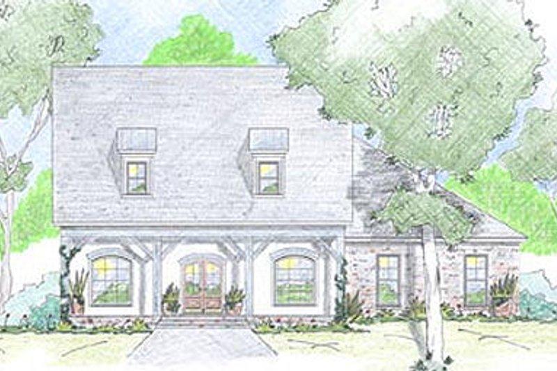 Dream House Plan - Farmhouse Exterior - Front Elevation Plan #36-471