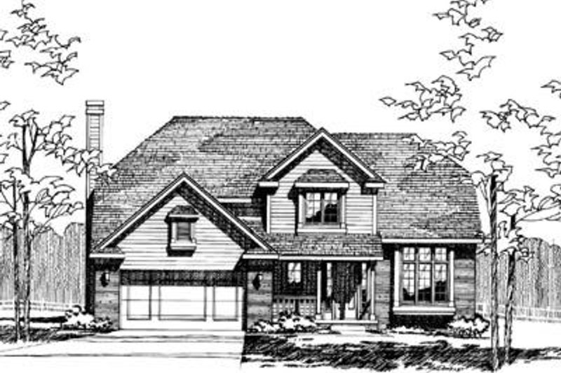 Traditional Exterior - Front Elevation Plan #20-660 - Houseplans.com