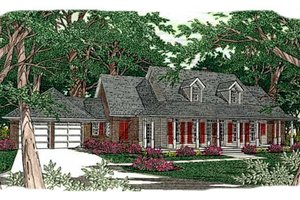 Southern Exterior - Front Elevation Plan #406-161