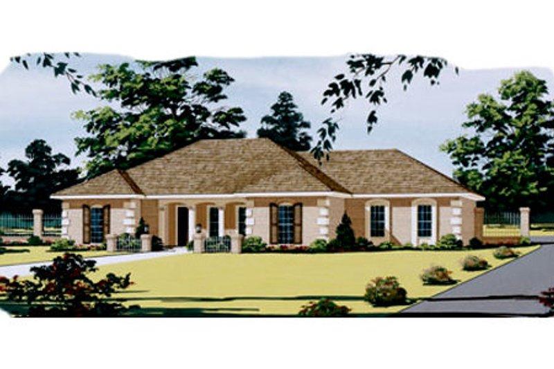 European Style House Plan - 3 Beds 2 Baths 1868 Sq/Ft Plan #45-124