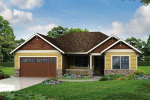 Cottage Exterior - Front Elevation Plan #124-971