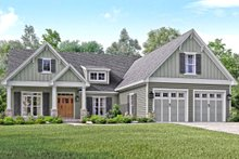 Home Plan - Craftsman Exterior - Front Elevation Plan #430-140