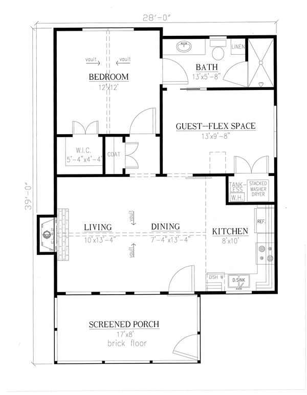 Country Floor Plan - Main Floor Plan Plan #437-98