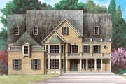 European Style House Plan - 5 Beds 4.5 Baths 4463 Sq/Ft Plan #119-315 Exterior - Other Elevation